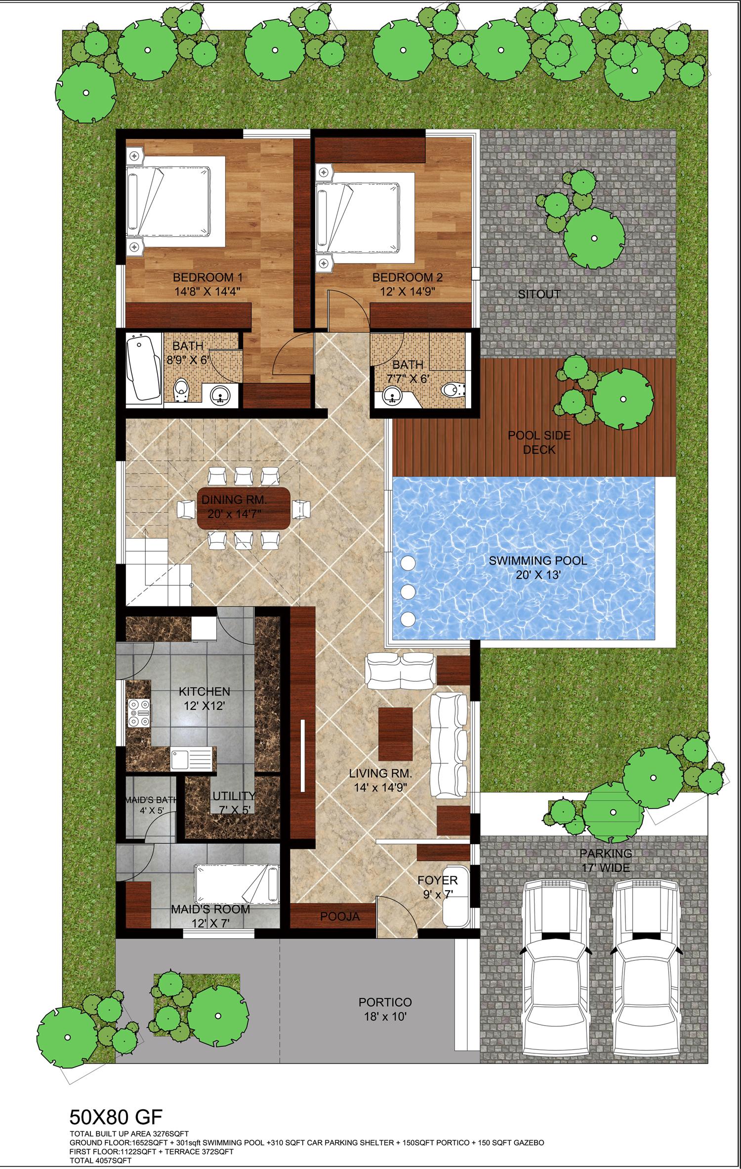 Natural Veneered Wooden Flush Door Design Mdf Living Room: Project City